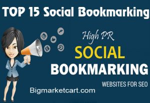 I will MANUALLY Bookmark your site to TOP 15 Social bookmarking sites
