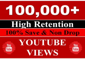 I will Give you 100,000 YouTube Views