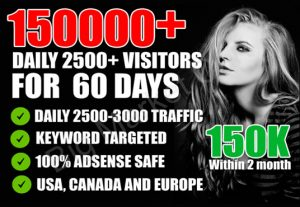 I Will Drive Unlimited Targeted Website Traffic,Visitors,60 Days