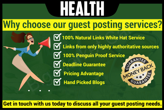 I Will Guest Post On High Quality Health Blog - Big Market Cart