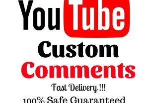 I Will Add 120 Youtube High Quality Real Custom Comments