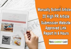I Will Manually Submit Article In 20 High PR Article Submission Website + Approved Link Report In 6 Hours