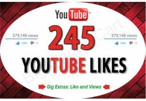 I will Provide 245 Real Youtube Likes Fast
